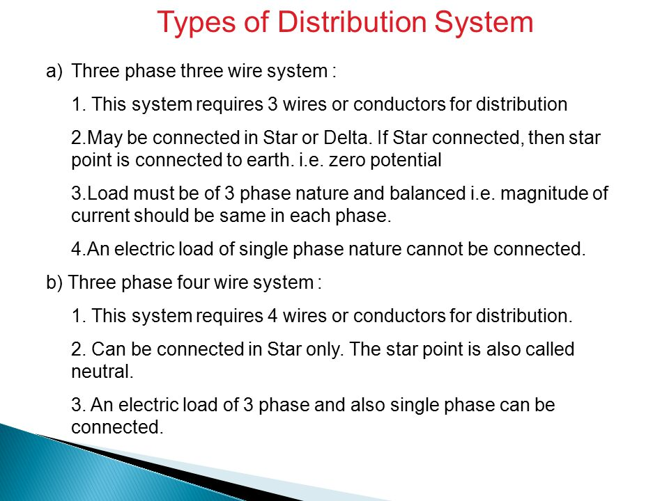 Types of Distribution System