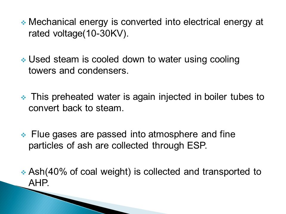 Mechanical energy is converted into electrical energy at rated voltage(10-30KV).