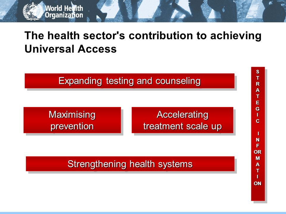 The health sector s contribution to achieving Universal Access