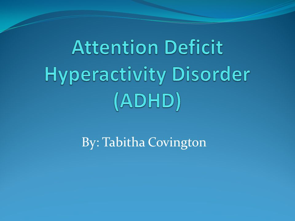 an overview of attention deficit disorder Attention deficit hyperactivity disorder (adhd) is a behavioural disorder that includes symptoms such as inattentiveness, hyperactivity and impulsiveness symptoms of adhd tend to be noticed at an early age and may become more noticeable when a child's circumstances change, such as when they start .