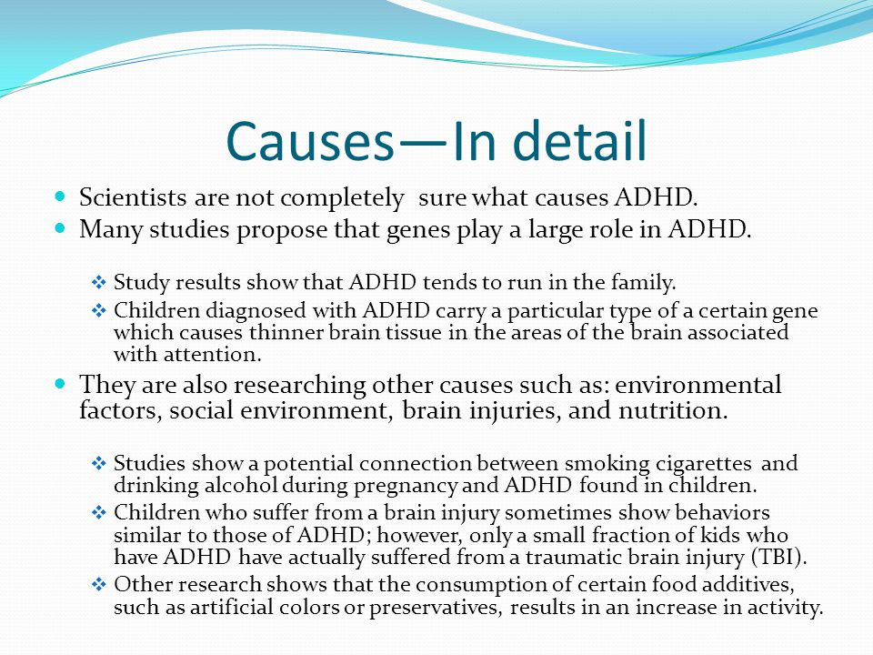 the social and bio genetic influences of attention deficit hyperactivity disorder Cultural perspectives on attention deficit hyperactivity disorder: a comparison between korea and the us seokyoung moon the university of arizona abstract attention.