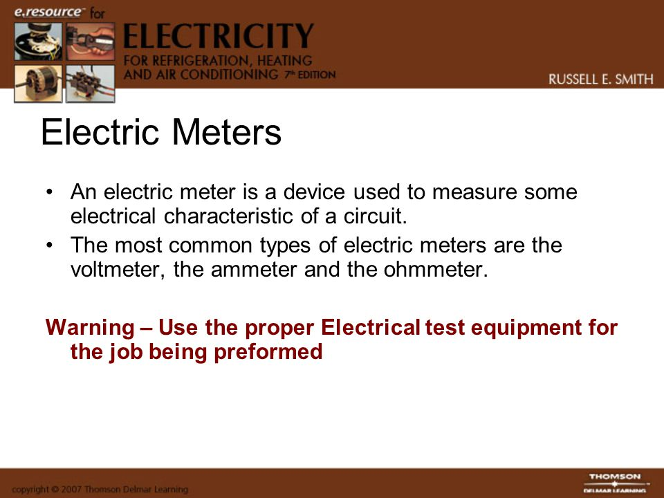 Types Of Electrical Test Equipment : Electric meters electricity for refrigeration heating and