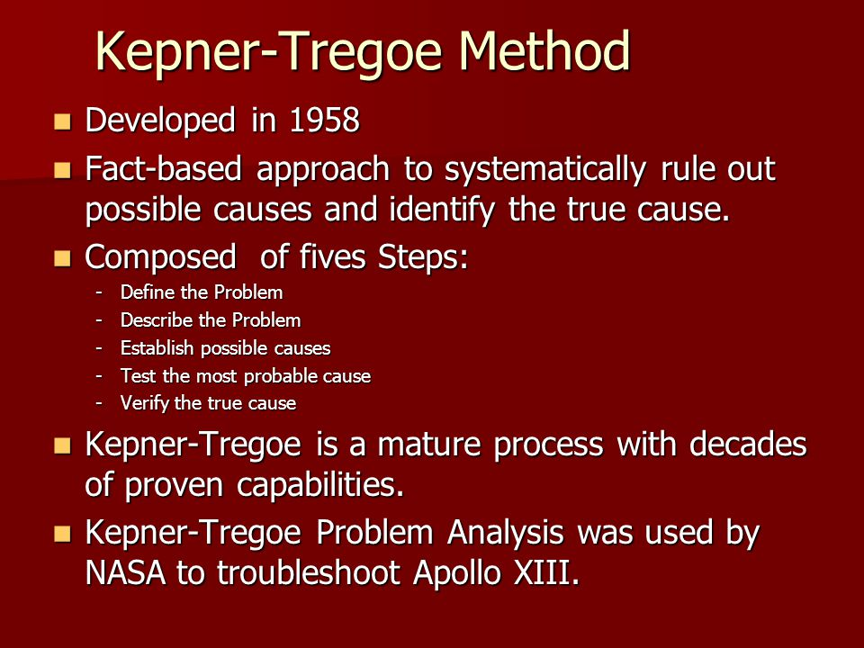 Henry Ford Education >> Kepner tregoe problem solving ppt