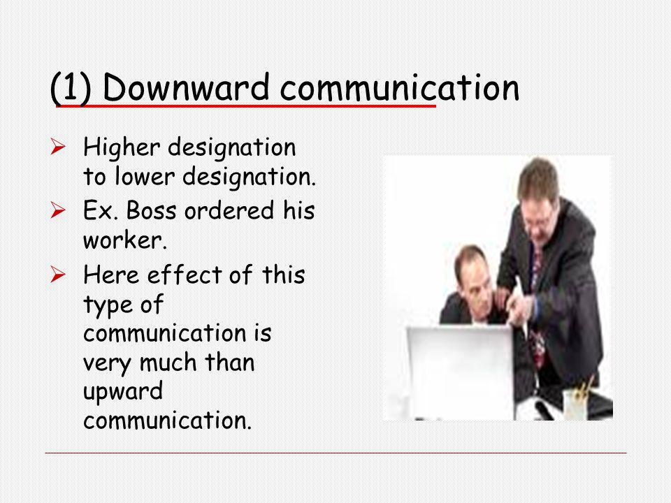 compare and contrast downward and upward communication