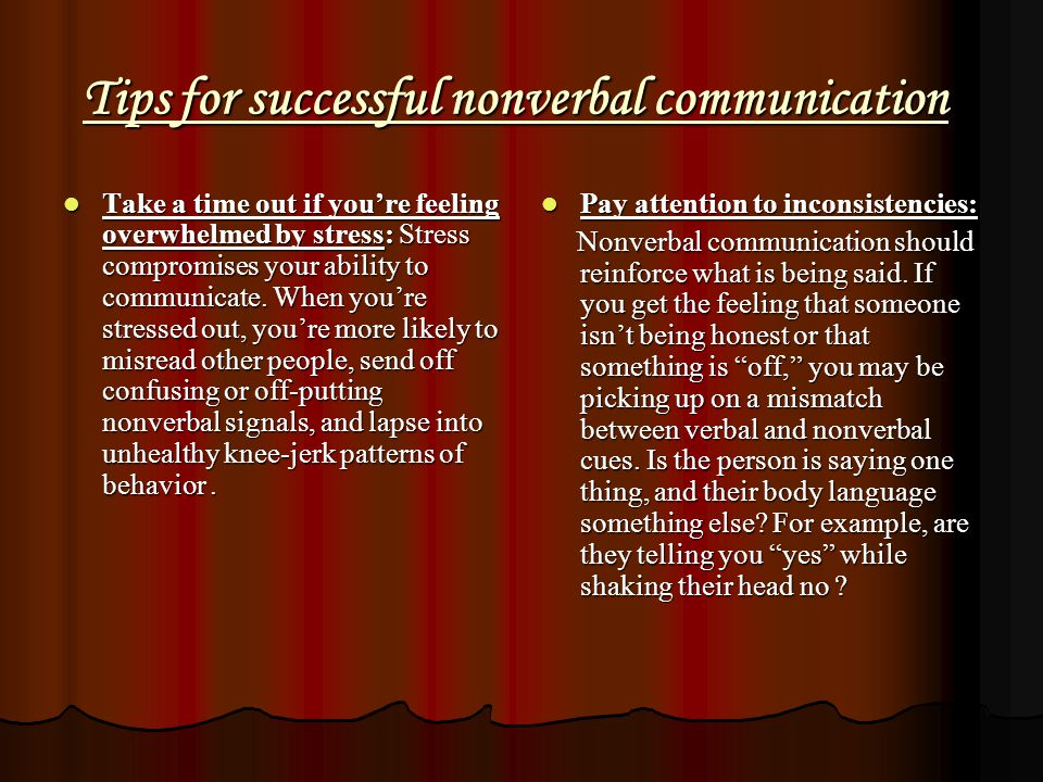 Tips for successful nonverbal communication