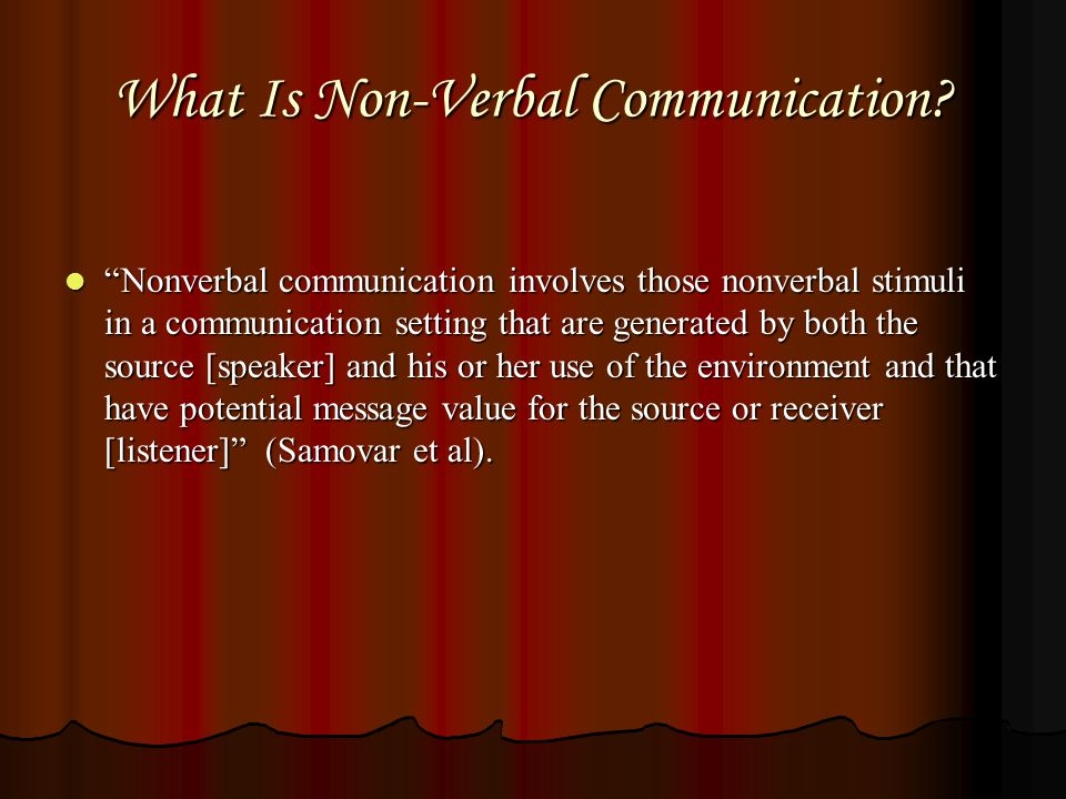 What Is Non-Verbal Communication