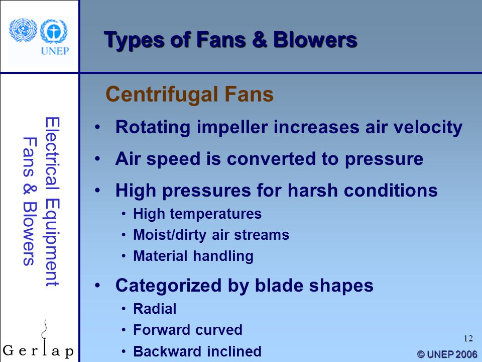 "Types Of Centrifugal Blowers : ""energy efficiency guide for industry in asia ppt download"