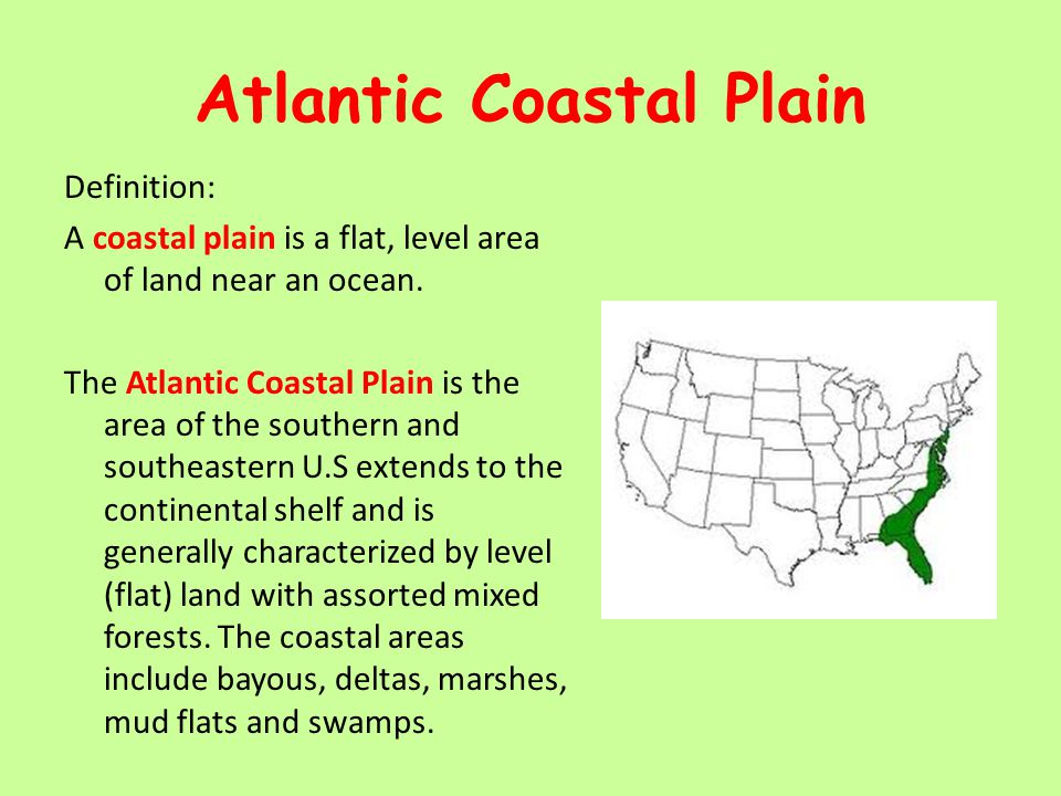 Maps Maps More Ppt Video Online Download - Coastal plains on us map
