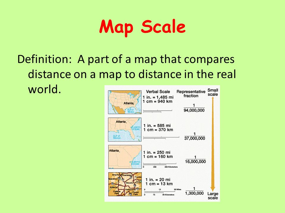 Map Scale Definition