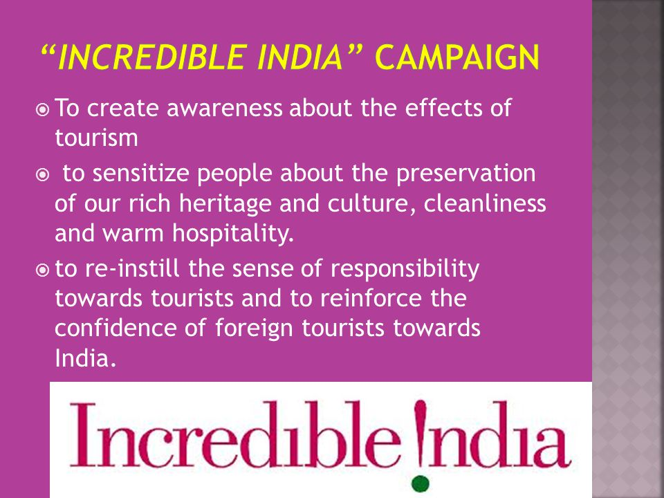 incredible india campaign case study Campaign india view results in: incredible india co-founder and ceo of single interface presented the case study at the i-com global summit in san sebastian.