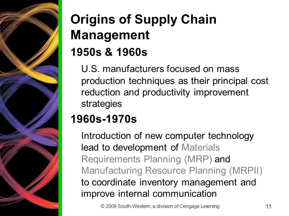 Origins of Supply Chain Management
