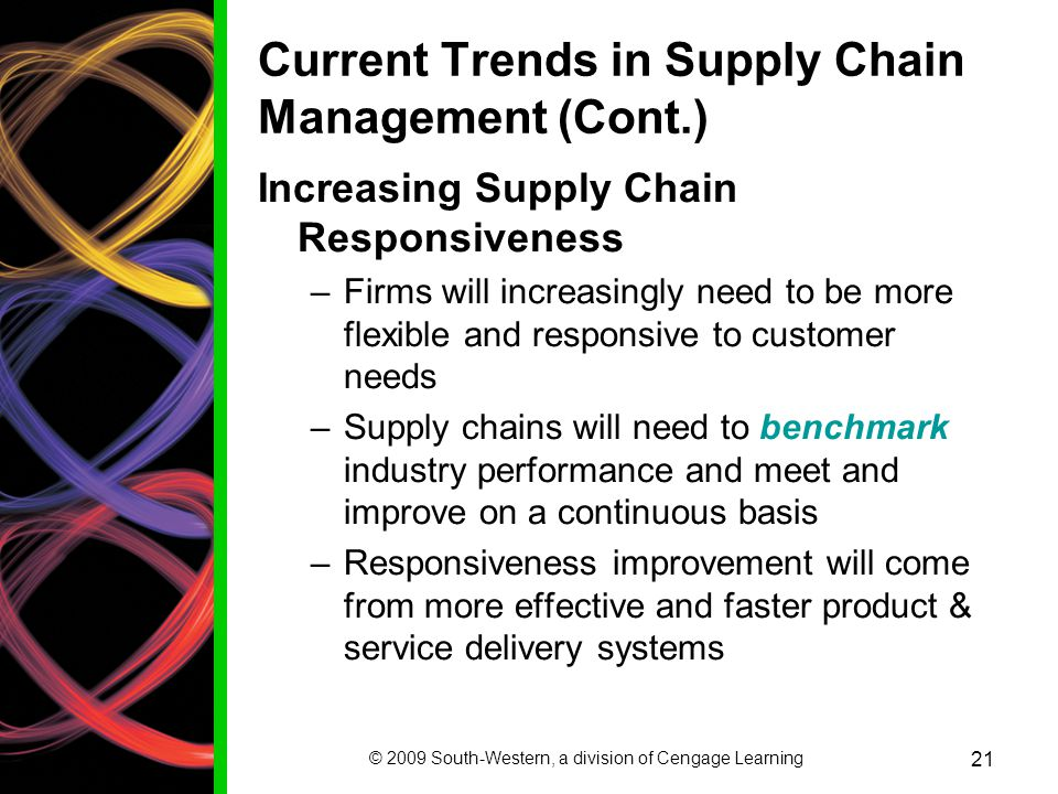 Current Trends in Supply Chain Management (Cont.)