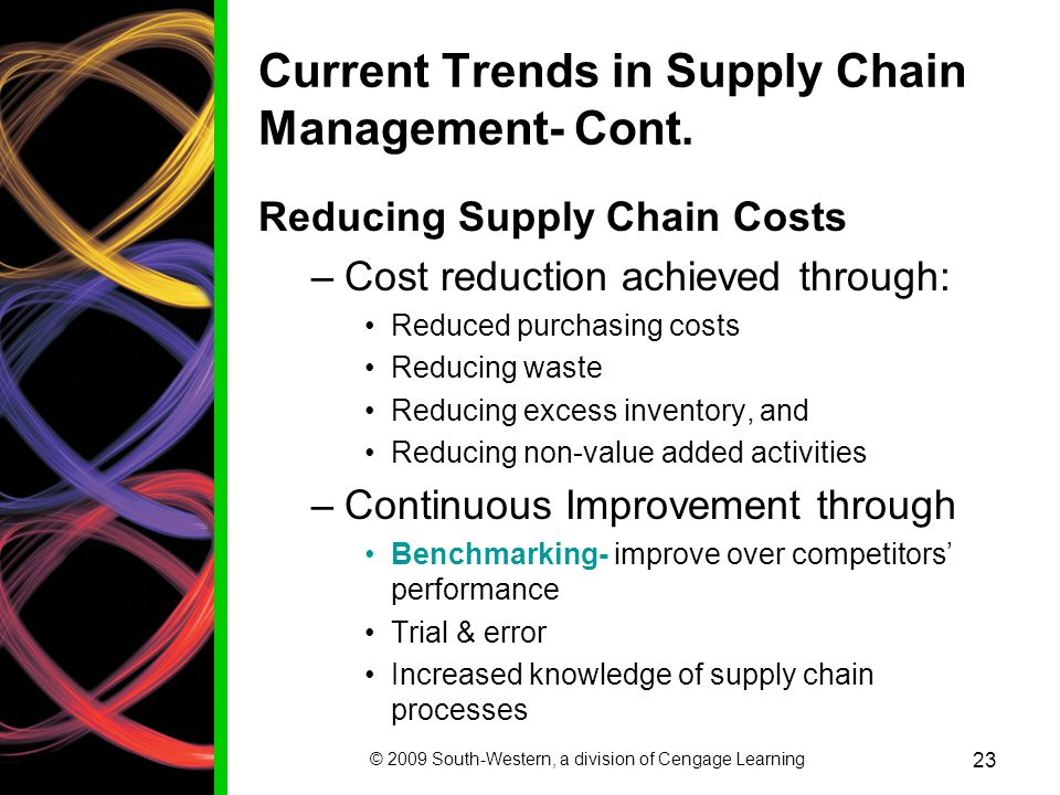 Current Trends in Supply Chain Management- Cont.