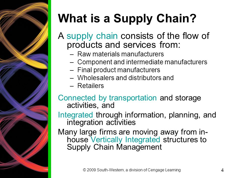 chapter 1 introduction to supply chain Chapter 15- looking to the future of supply chain management principles of supply chain management: a balanced approach prepared by daniel a glaser-segura, phd.