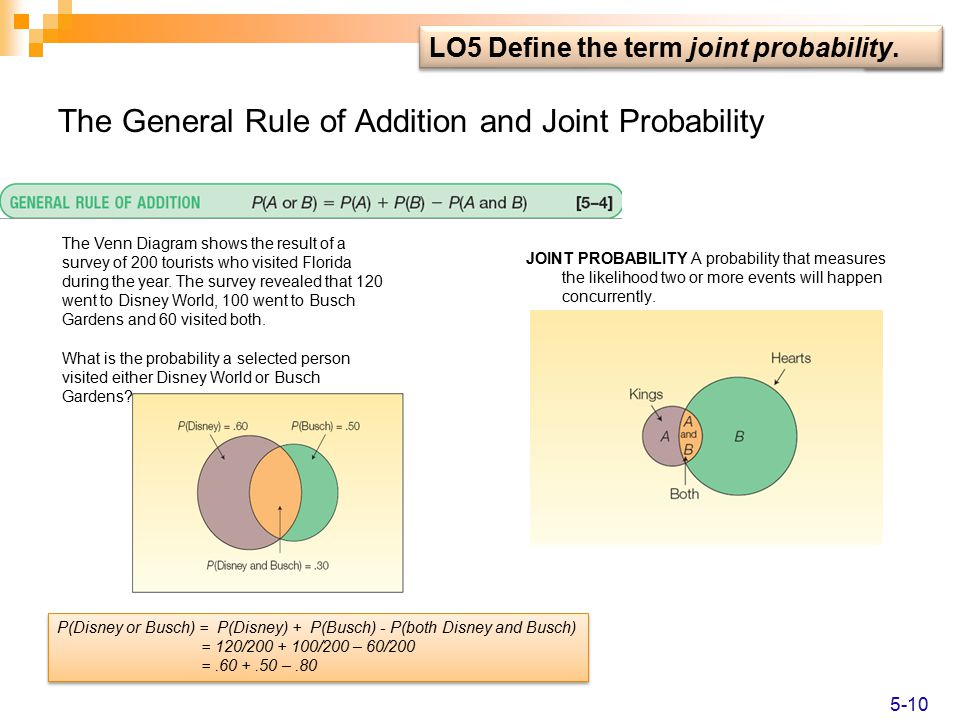 A survey of probability concepts ppt video online download the general rule of addition and joint probability ccuart Gallery
