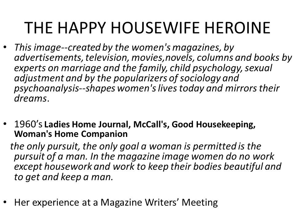 THE HAPPY HOUSEWIFE HEROINE