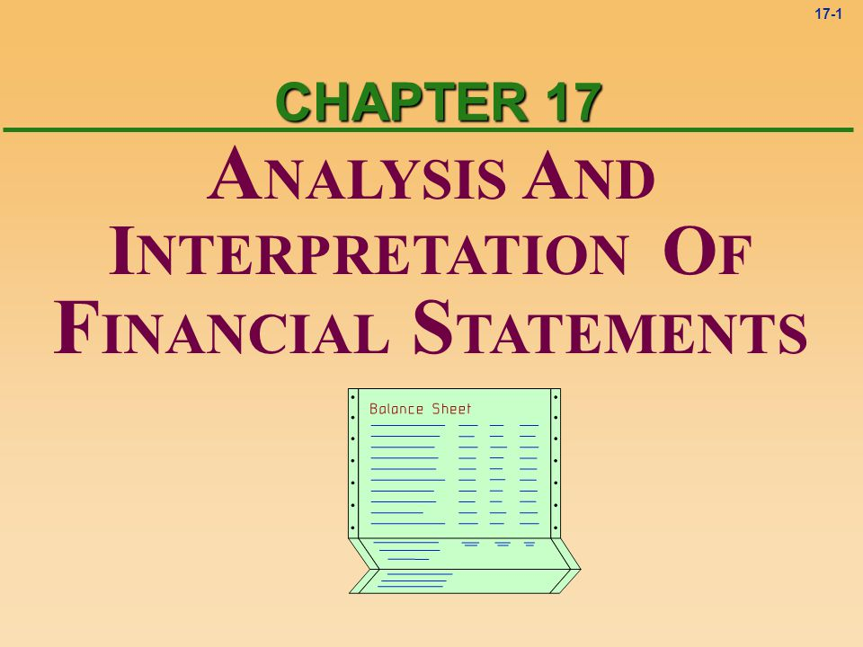 ANALYSIS AND FINANCIAL STATEMENTS