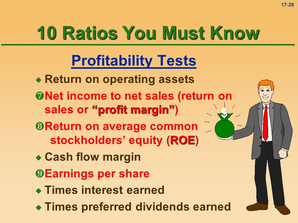 10 Ratios You Must Know Profitability Tests $