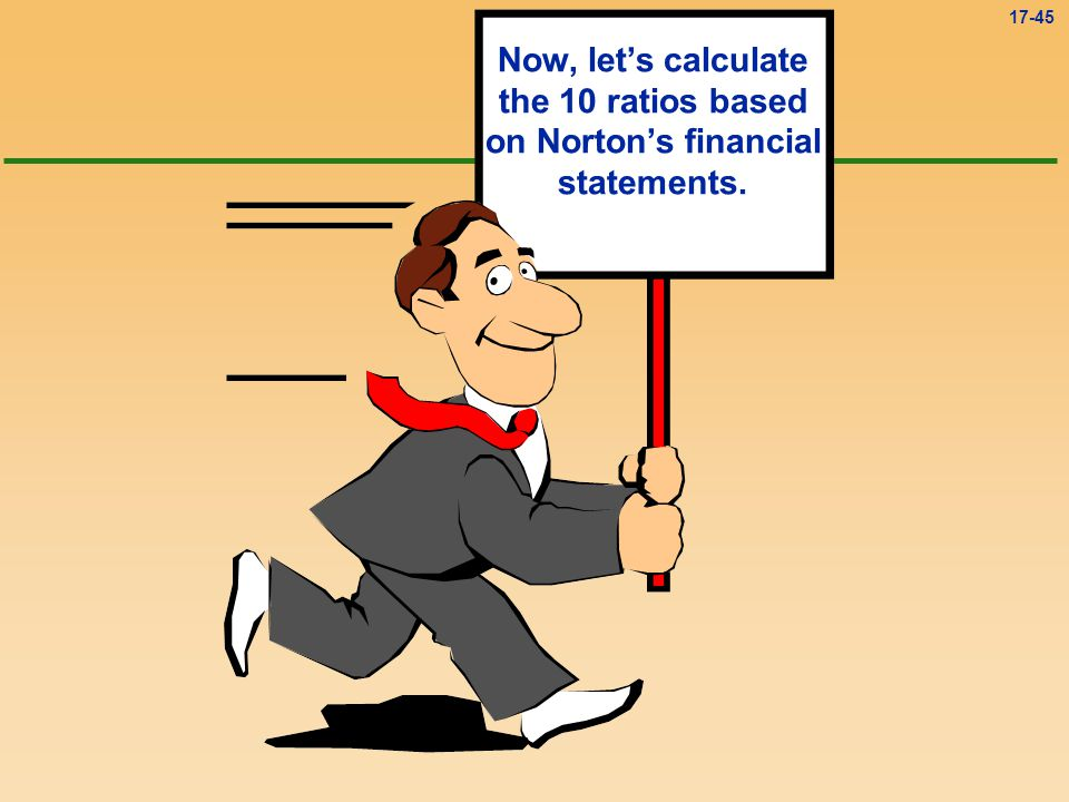 Now, let's calculate the 10 ratios based on Norton's financial statements.
