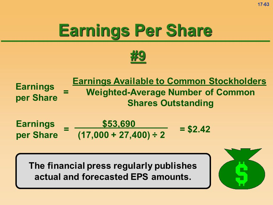 Earnings Per Share #9 Earnings Available to Common Stockholders