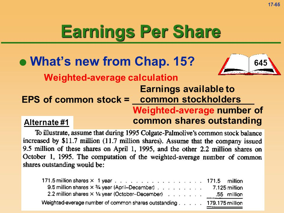 Earnings Per Share What's new from Chap. 15