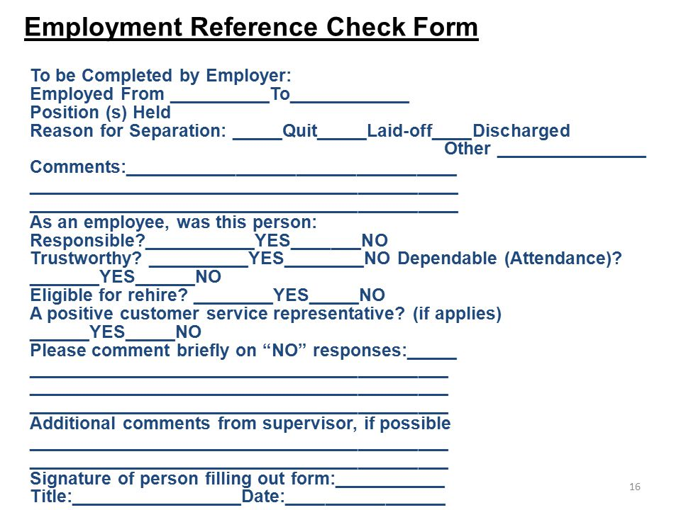 employment reference check form template - employee reference check forms sample reference check