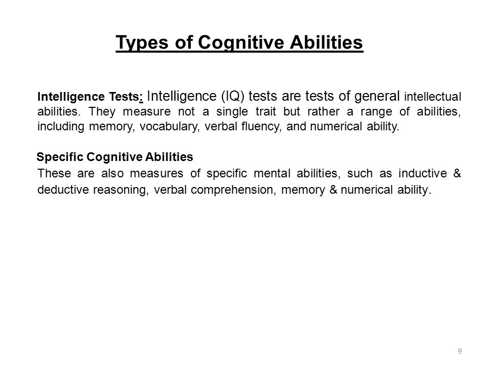 Types of Cognitive Abilities