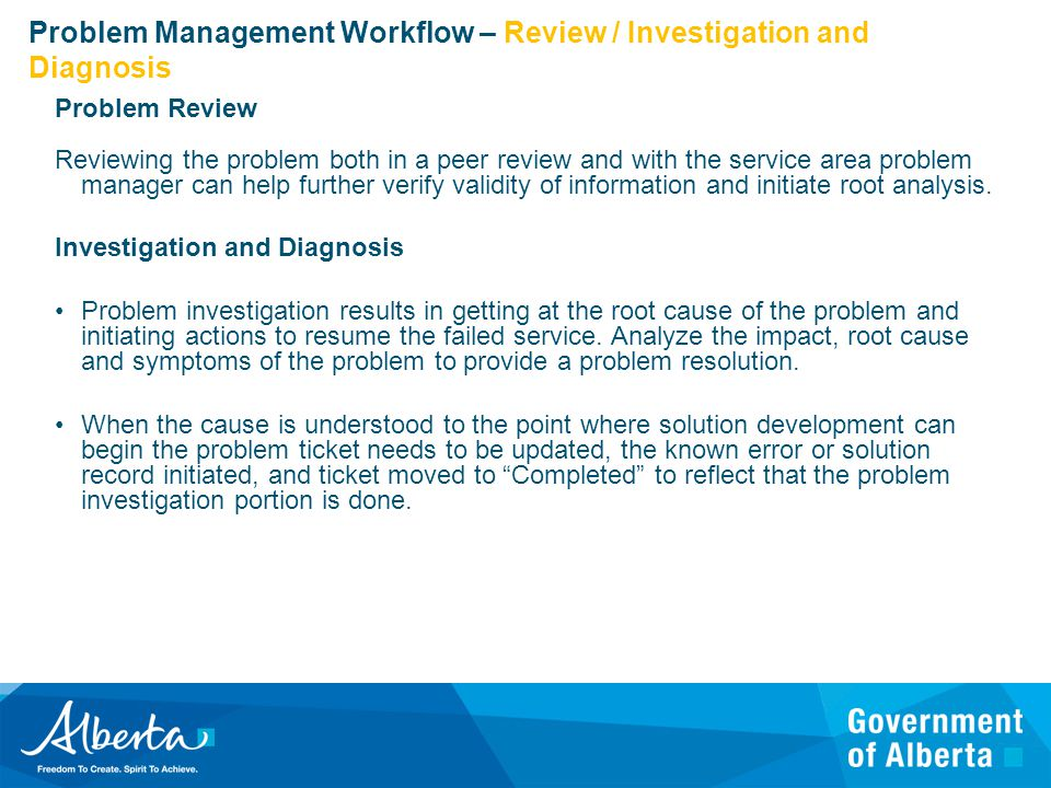 problem management resumes