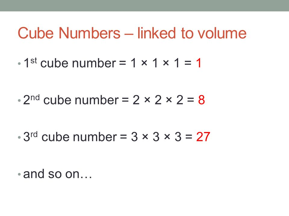 how to find cube of a number