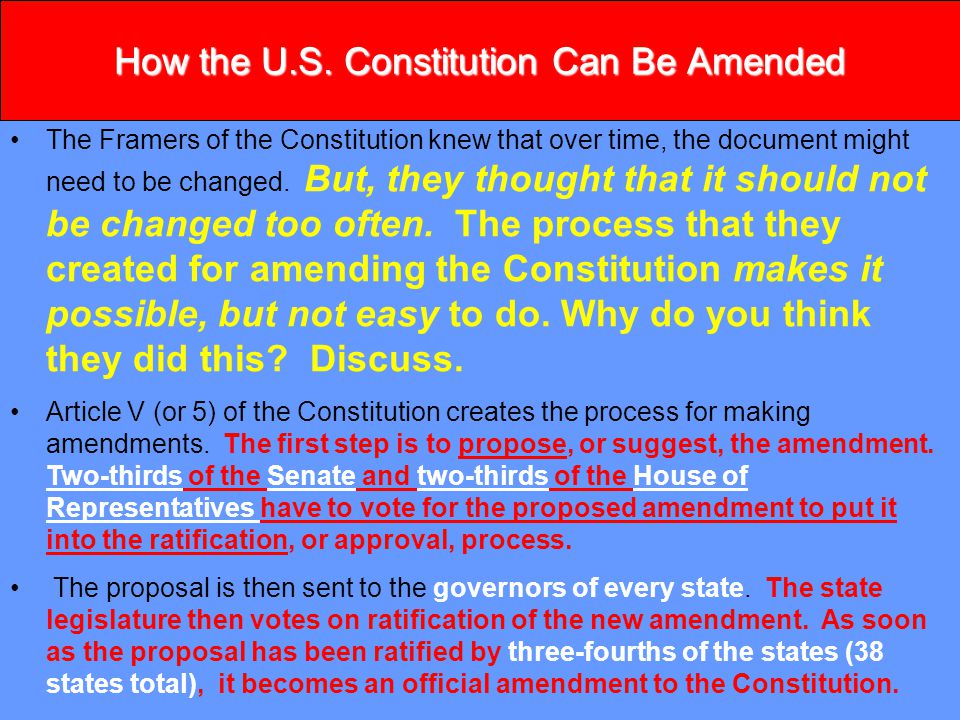 Amending The Constitution Of Ppt Video Online Download