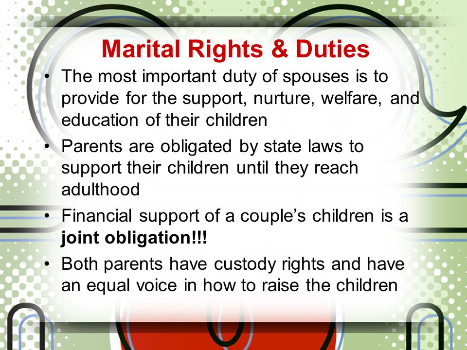 Marital Rights & Duties