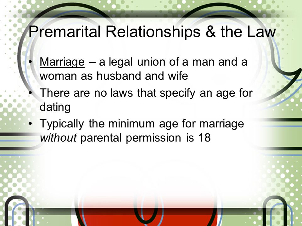 age of dating law