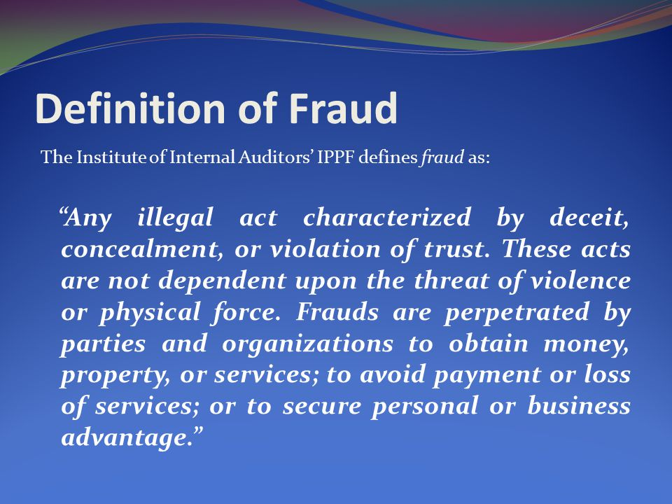 Delightful Definition Of Fraud