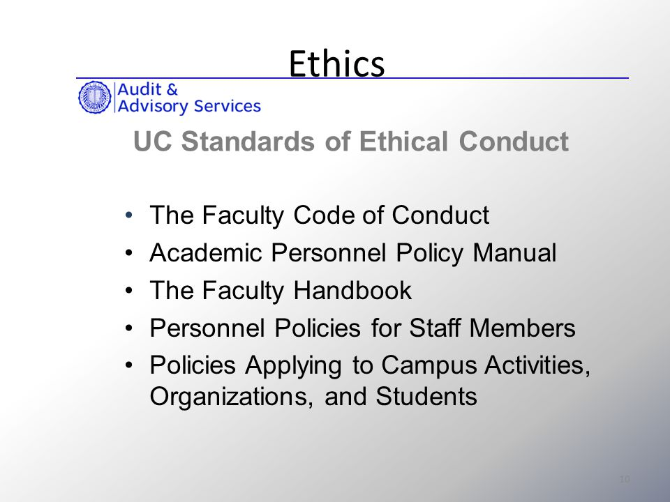 how to create a code of ethics policy