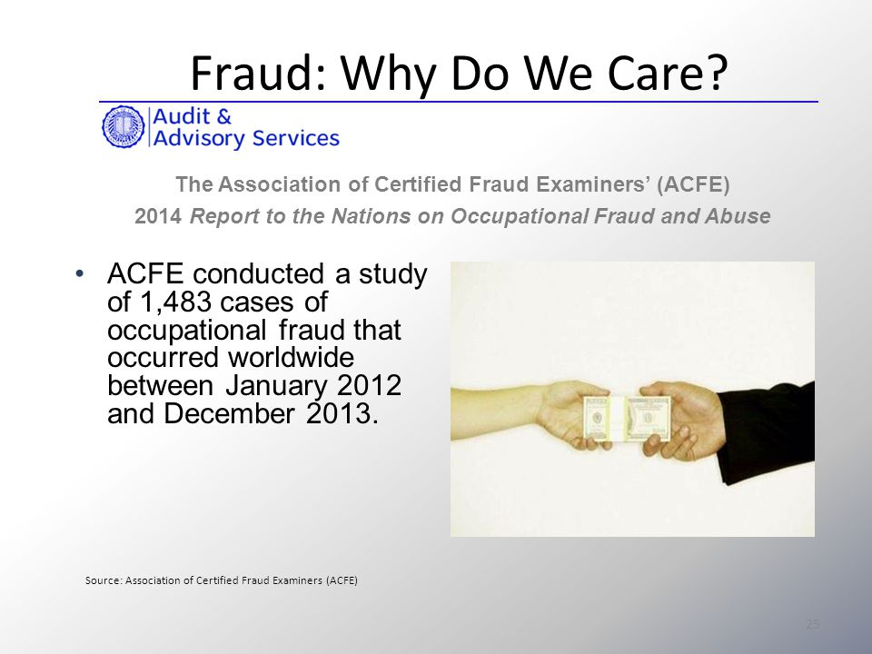 occupational abuse and fraud Learn how fraud is committed and the most effective ways to detect it identify fraud losses at global, industry and organizational levels discover how organizations respond when occupational fraud has been identified compare your organization's fraud risks by industry, region and size .