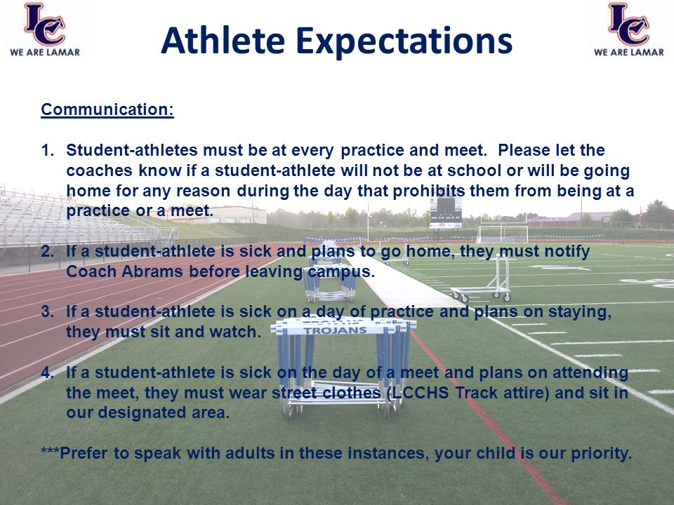 academic expectations of college athletes Other differing factors among ncaa and cis institutions which may influence the academic performance of student-athletes are the athletic subculture and its academic expectations for student-athletes, as well as other students' and faculty's expectations of student-athletes' academic performance.