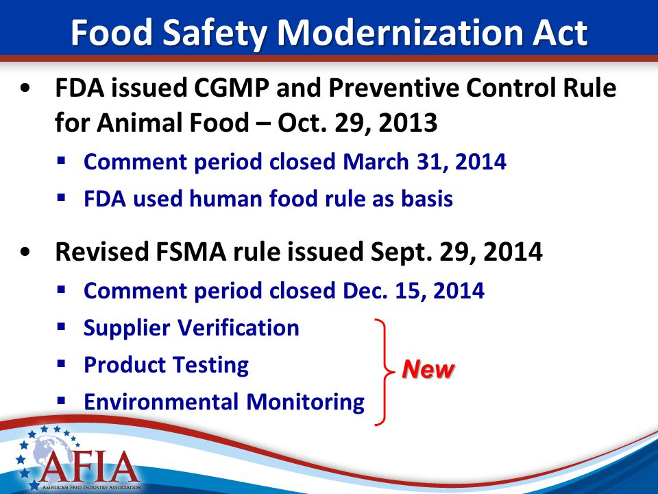 food safety act The food safety and standards act of 2006 (no 34 of 2006) enacted on august 24, 2006 which mandated setting up of a independent autonomous body food safety.