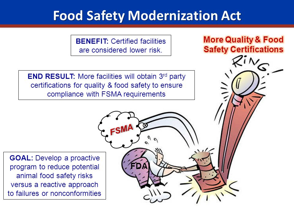 food safety as determined by fsma In late november and early december, the us food and drug administration held three public meetings in the washington, dc, area,  food safety news.