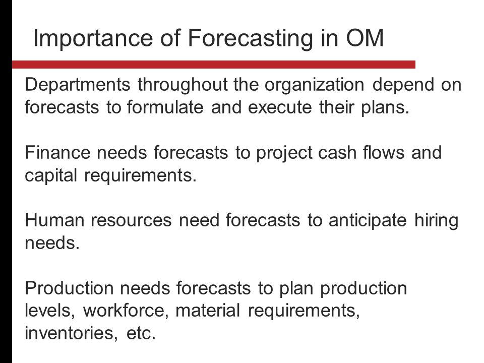 Business Forecasting and its Importance to Business