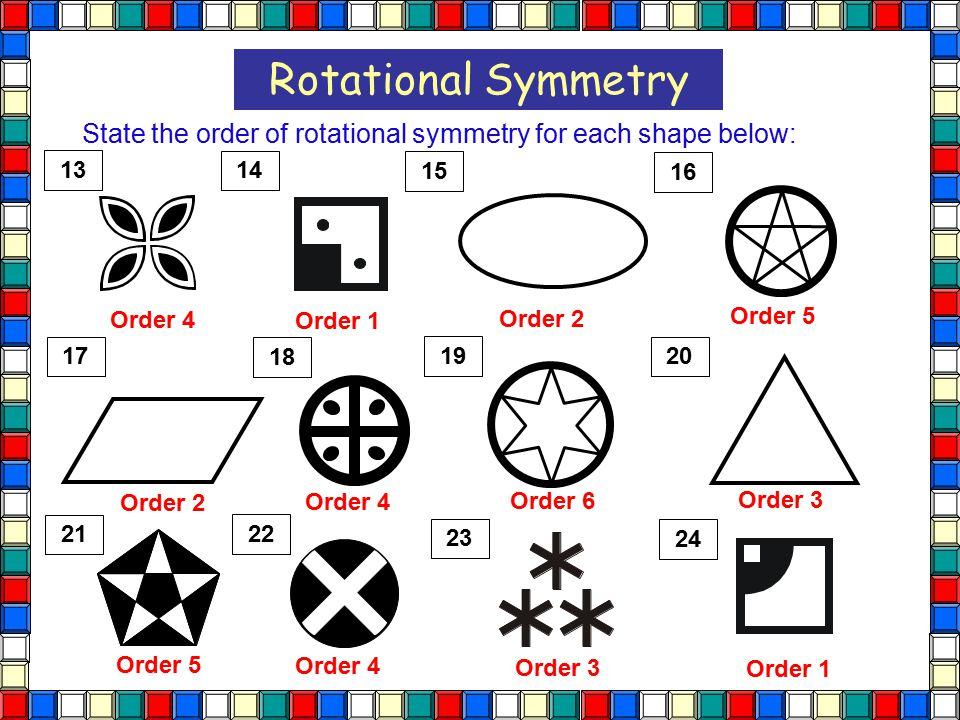 Rotational Symmetry Math Worksheets – Rotational Symmetry Worksheet