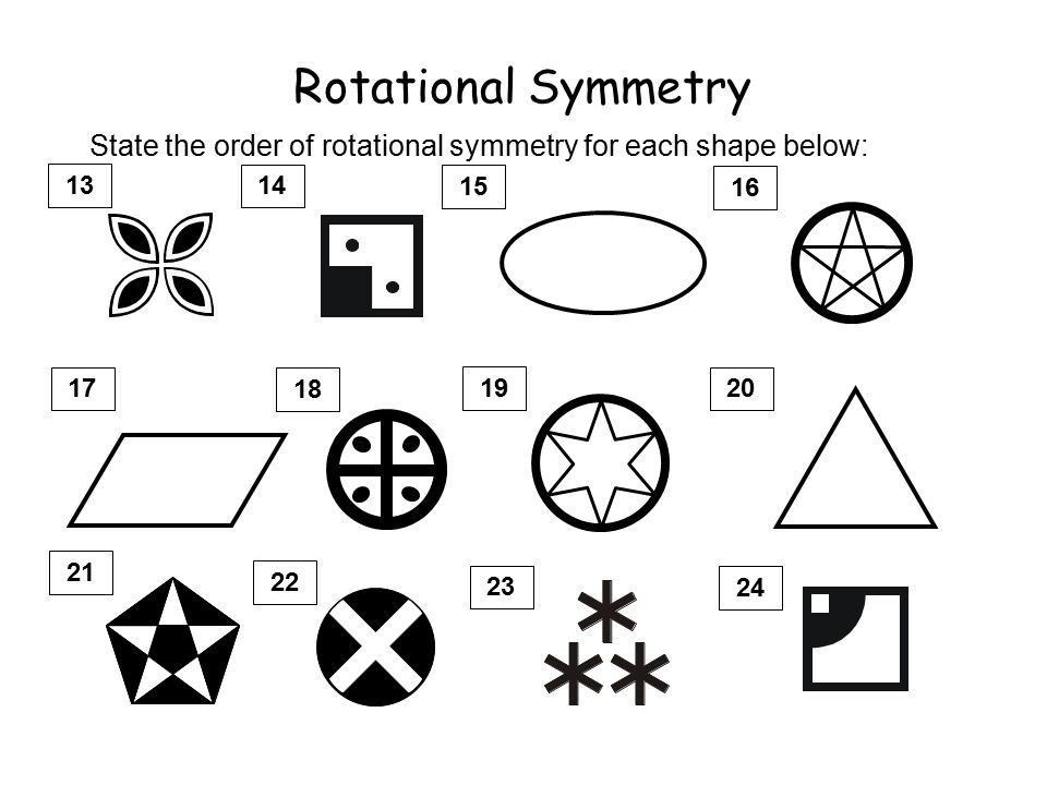 Rotational Symmetry All 2 dimensional shapes have some rotational – Rotational Symmetry Worksheets
