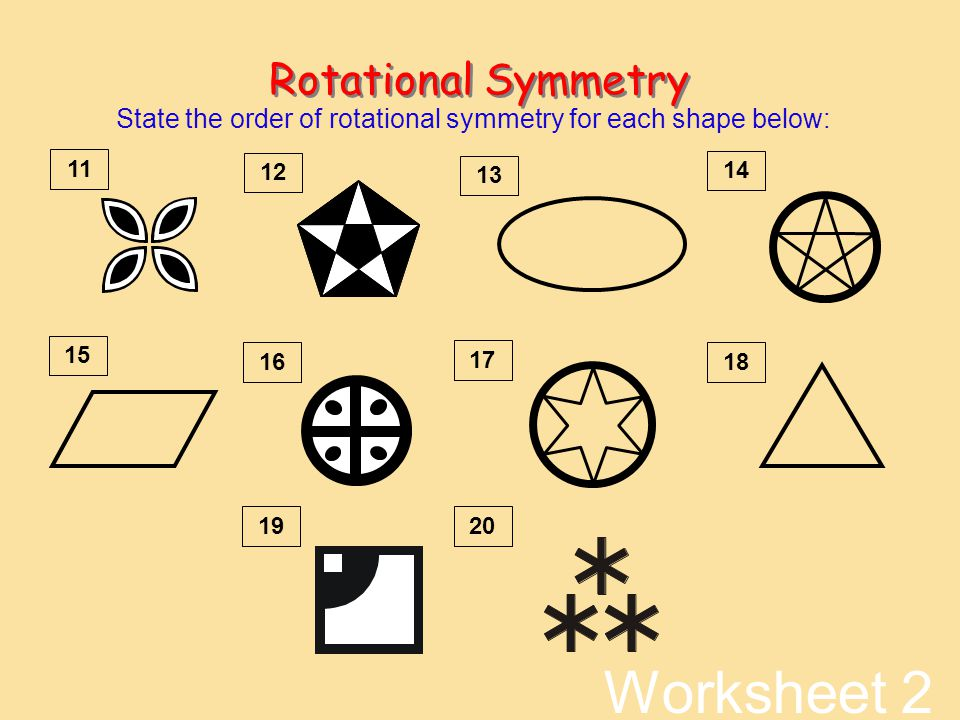 Rotational Symmetry Worksheet Worksheets for all | Download and ...