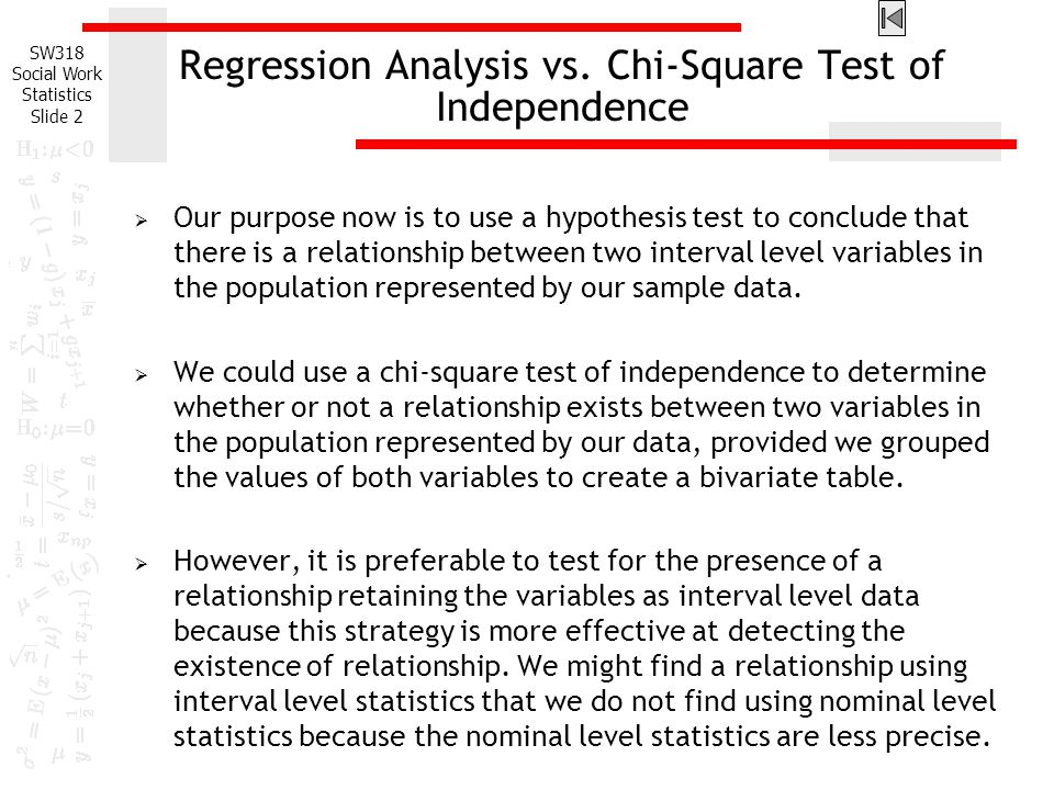 correlation regression and chi square excel worksheet Use the excel analysis toolpak to find the linear correlation coefficient for the systolic and diastolic measurements tutorials for this question available for.