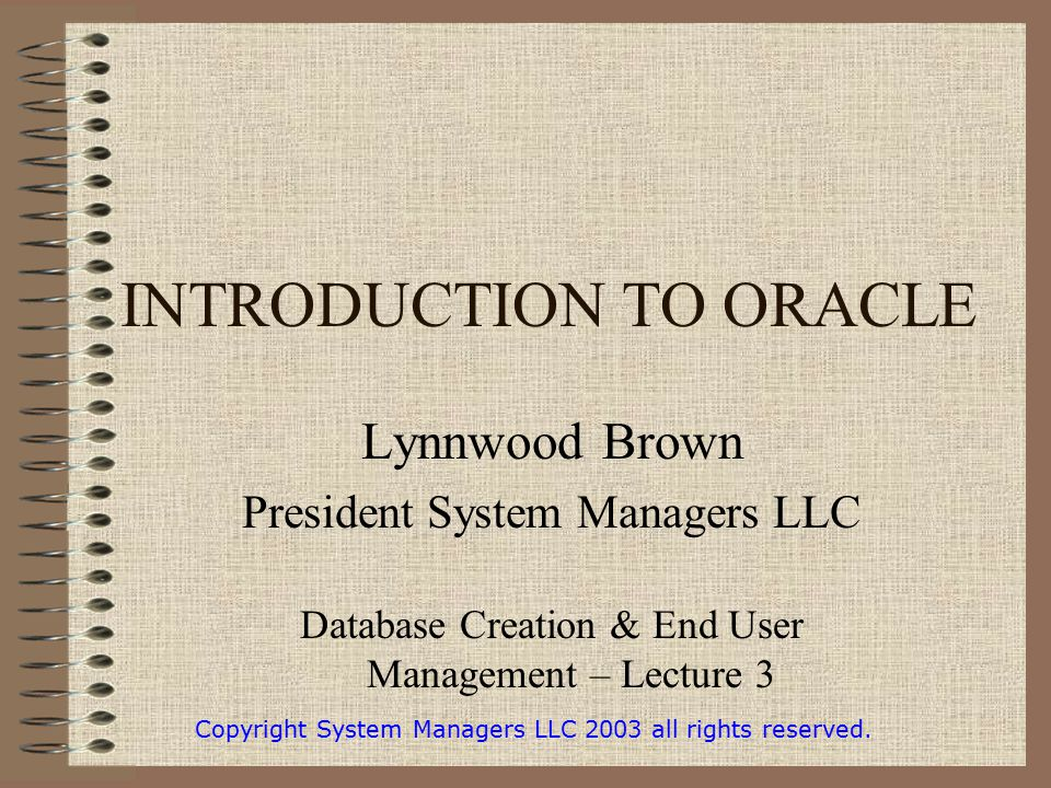 introduction to oracle database pdf