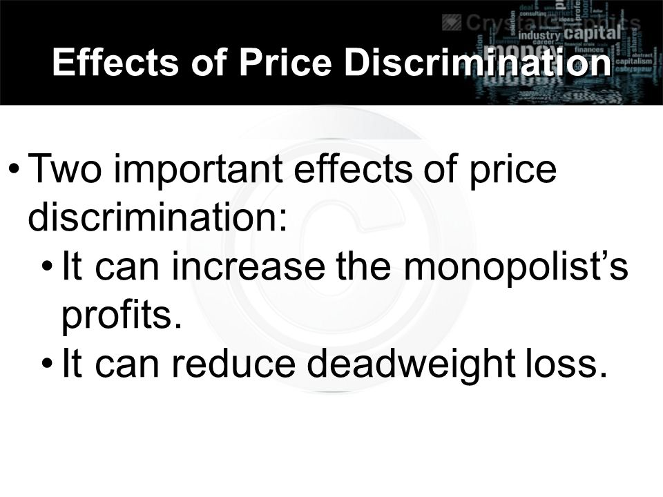 Effects of Price Discrimination