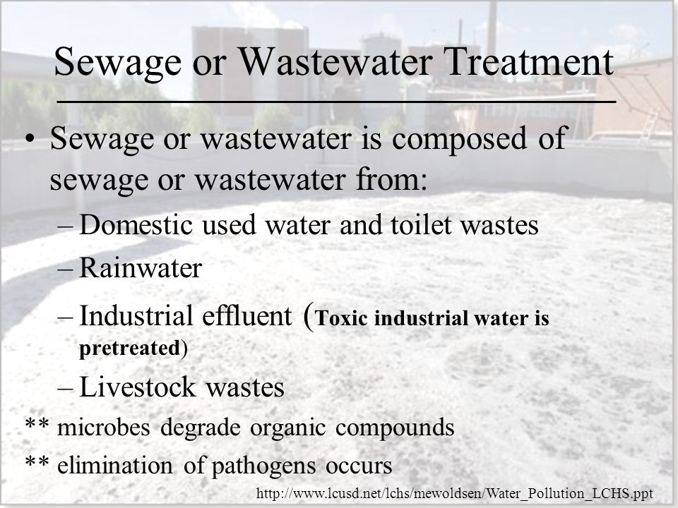 Sewage Treatment And Bod Ppt Video Online Download