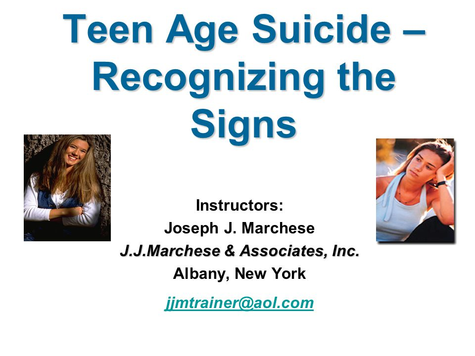 the problem of the teenage suicide Suicide is a third leading cause of death for teenagers (teen suicide overview) as of 2001, the suicide rate in the united states was 107 per 100,000 people for young adults ages fifteen to twenty-four the suicide rate was 99 per 100,000 people (rautio, 2008).