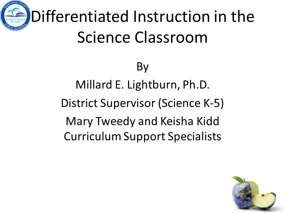 Differentiated Instruction In The Science Classroom Ppt Video