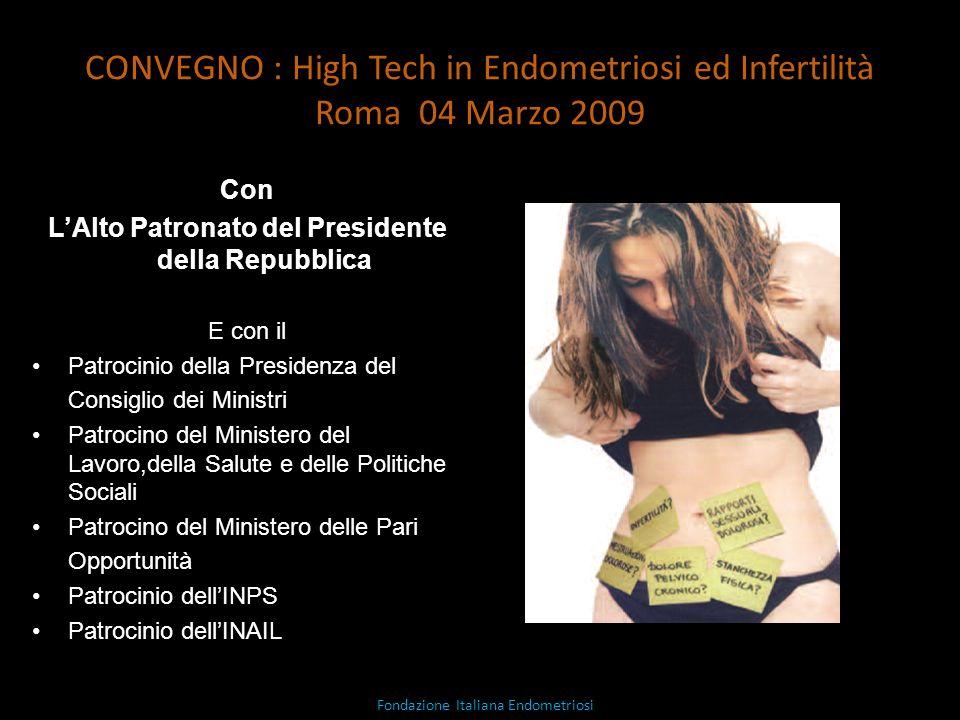 CONVEGNO : High Tech in Endometriosi ed Infertilità Roma 04 Marzo 2009