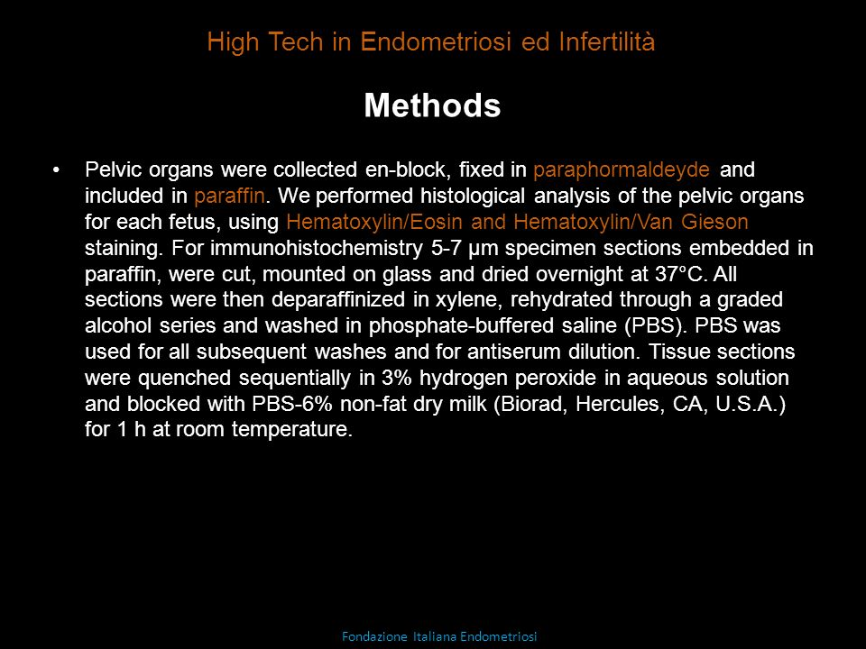 Methods High Tech in Endometriosi ed Infertilità